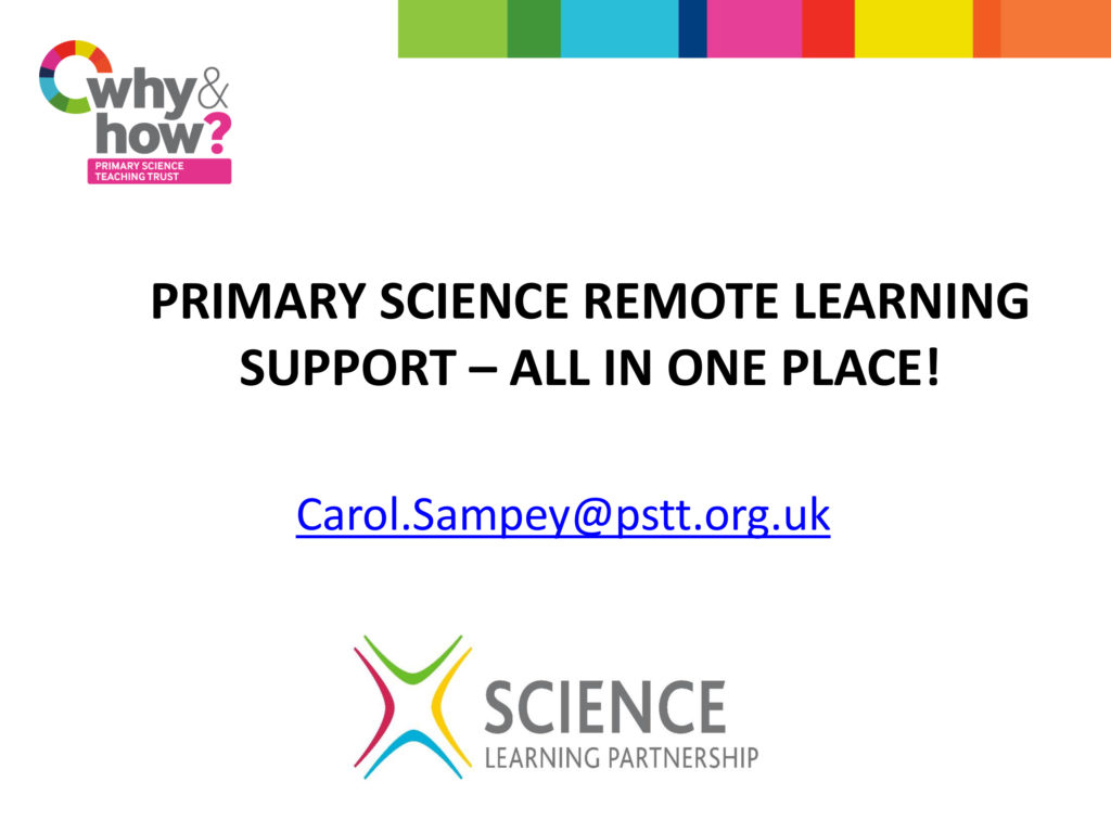 Primary Science Remote Learning Support